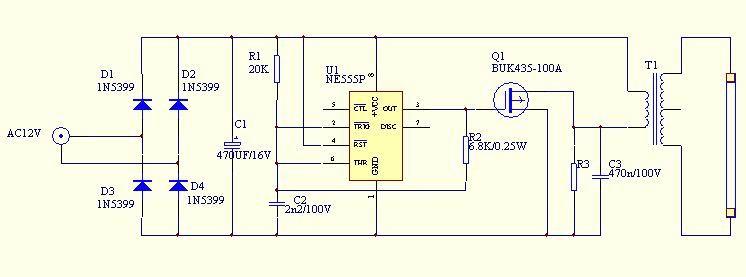 微型霓虹灯变压器