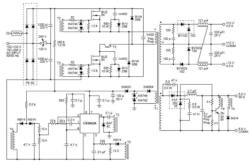 求助:双管正激电路的芯片供电绕组发烫