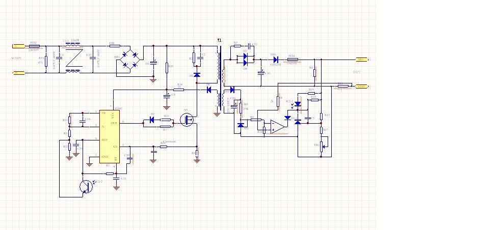 关于3842反激电源的短路保护电流的问题
