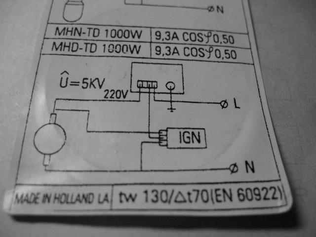 飞利浦大功率双端金卤灯电源回路接线是不是可以不装电容高清图片