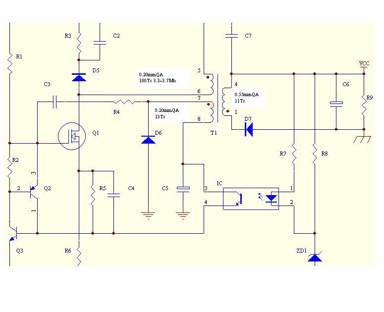 最新后级短路保护电路.一只可控硅和一只三极管组成!