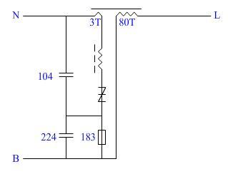 上面是金卤灯的触发器图,请问那个104和224耐压应该是多少伏的?