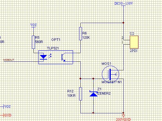 帮忙看一个mos管驱动电路-电源网