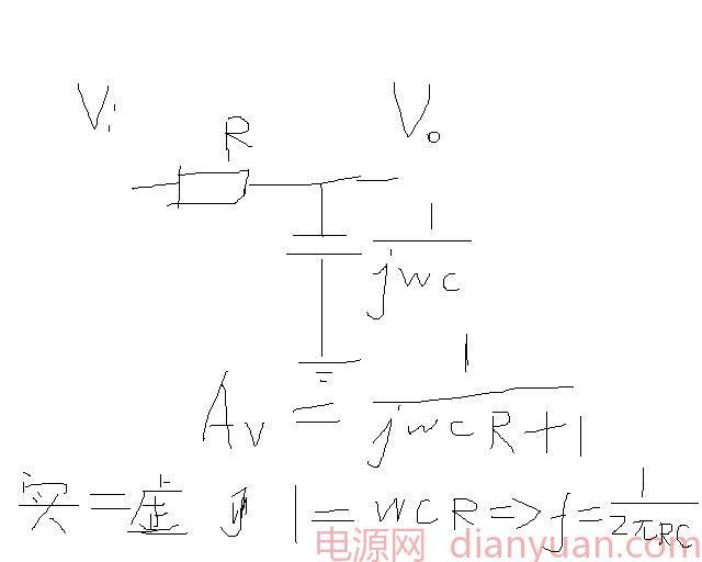 求教:rc低通滤波器 截止频率的计算