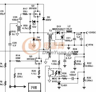 新手求助cm6800设计(脉冲驱动变压器)