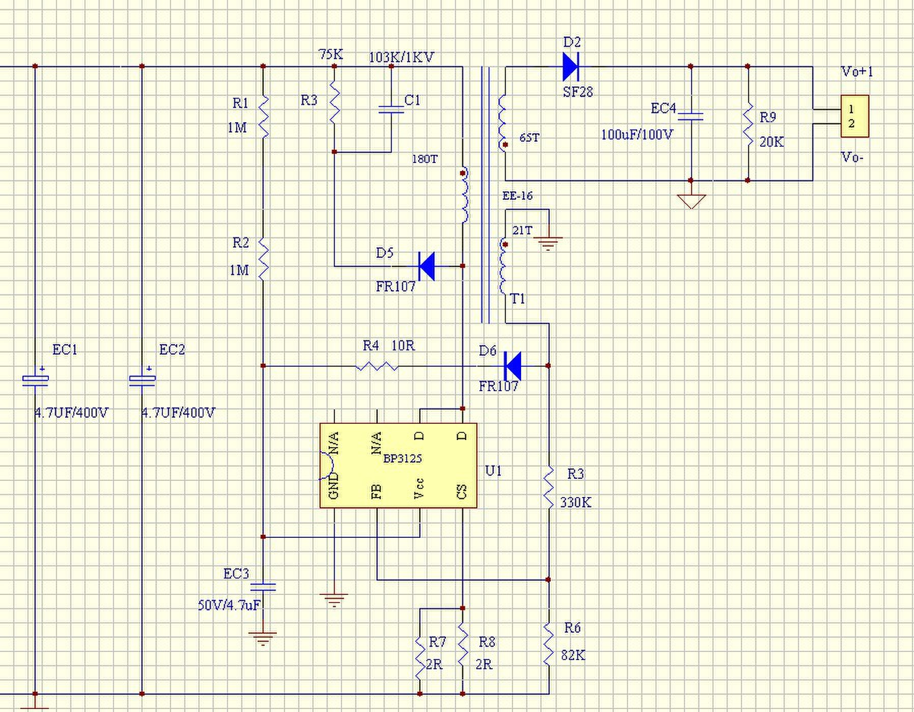 Схема светодиодного светильника 12в
