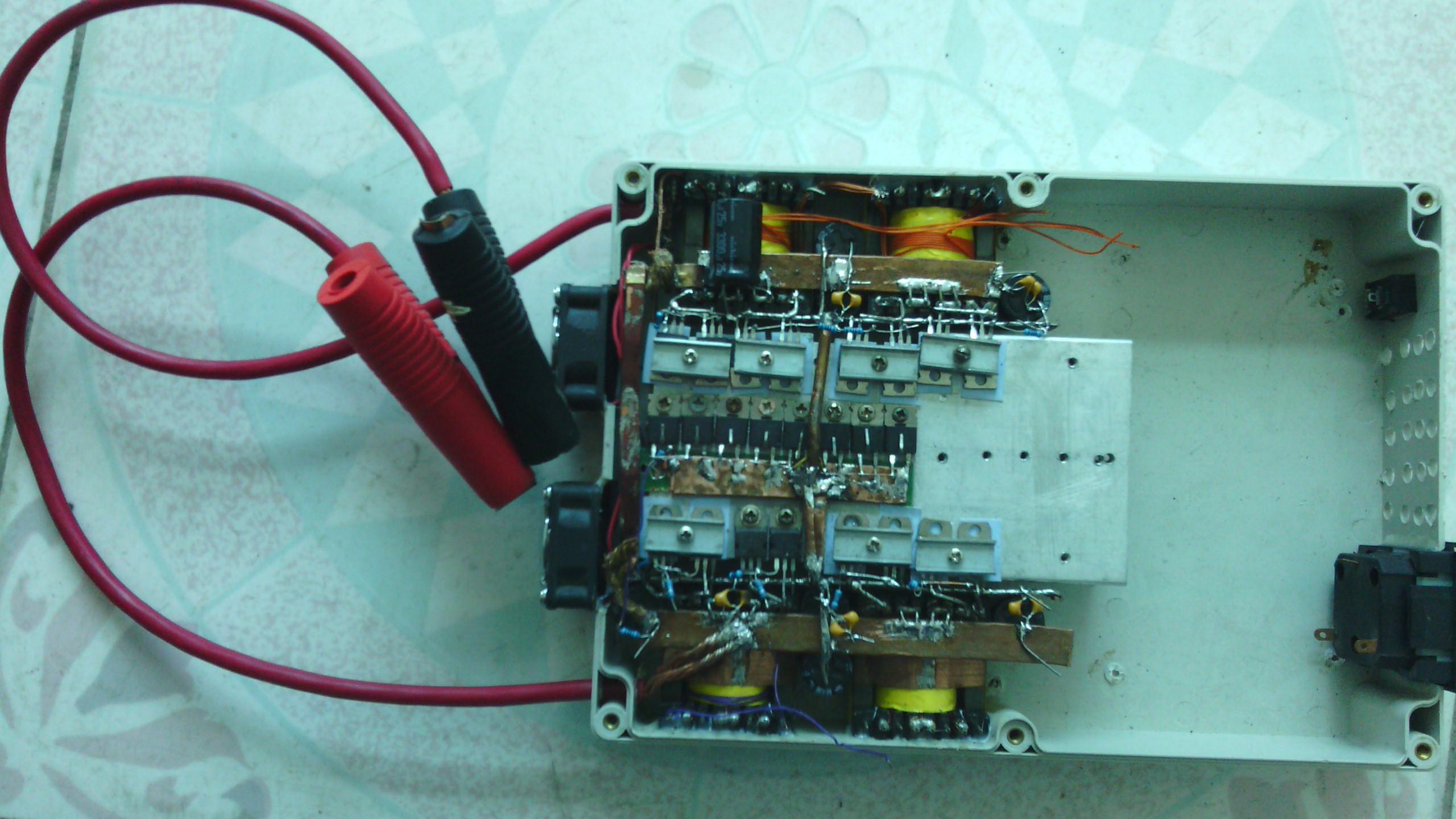 纯手工制作12v2000w纯正弦逆变器-电源网