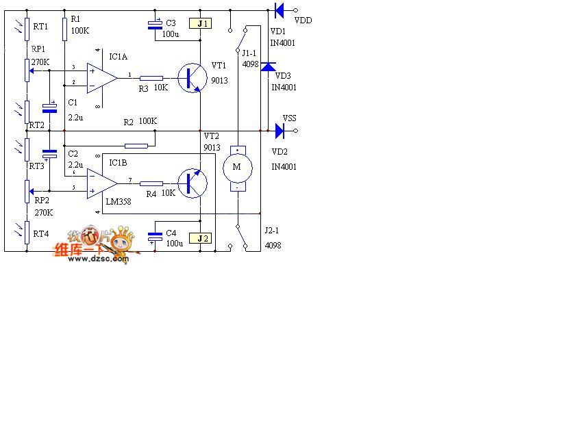 太阳能自动跟踪控制器图