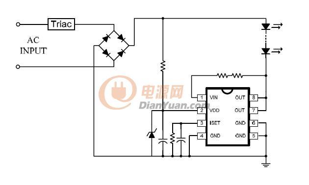 非隔离3w可调光式led驱动电源电路-电源网