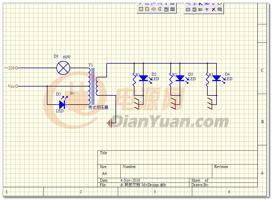 220v交流电(电猫)内部结构的电路图