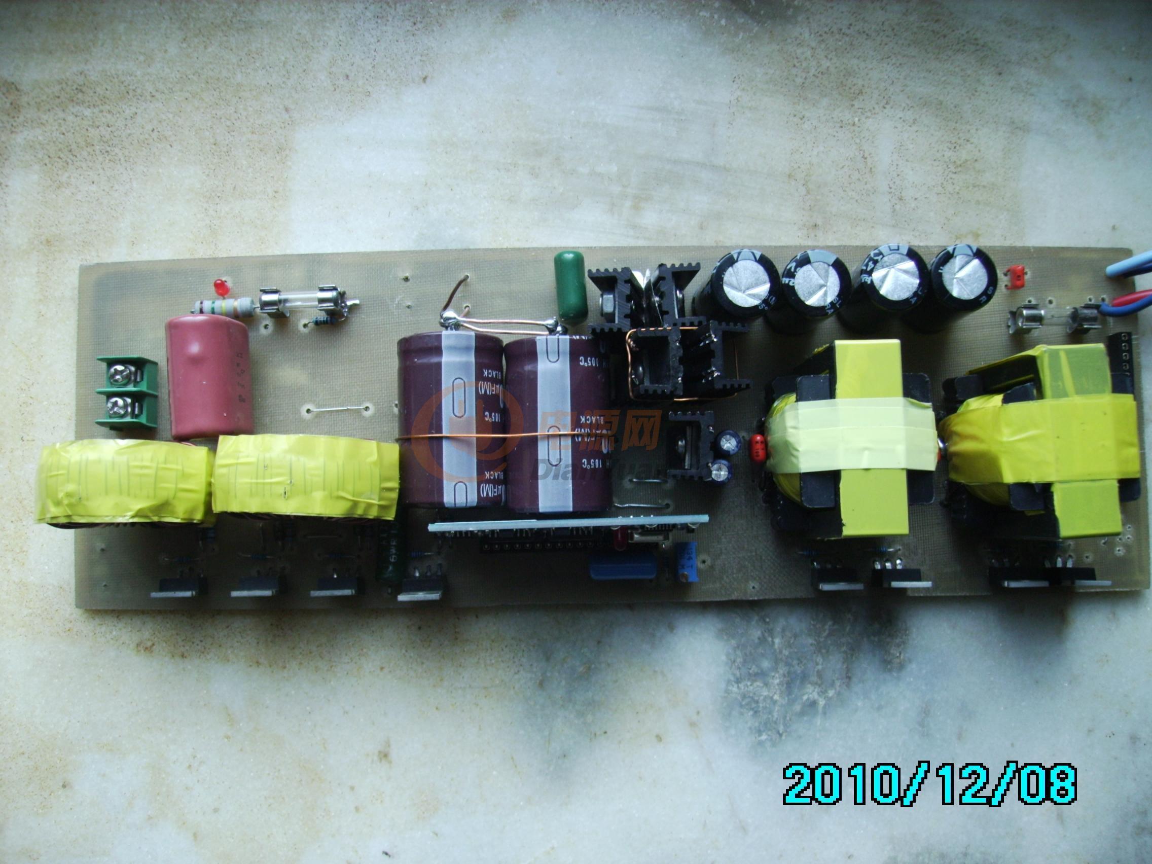 手工打造1000w纯正弦波逆变器-电源网