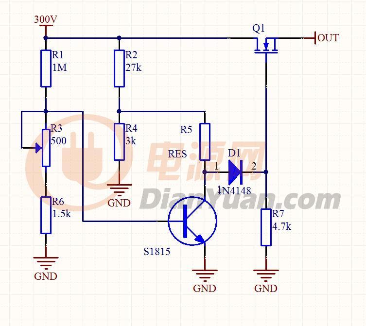 需要对一380VAC做过压保护,整流后直流电压为540V,直流电压高到600V时用只管子(不能用继电器)断开直流电压到后级电路的连接 而且这个电路的功耗要非常小。想用比较器来做,但比较器的供电很不好做,直接自输入高压直流取电的话功耗太大,请教有什么好的办法。