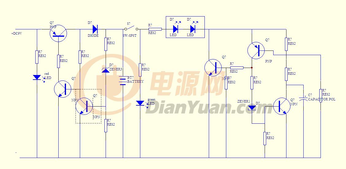 充电电路指示灯问题-电源网