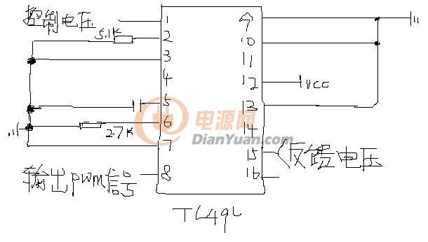 tl494的产生pwm占空比可调的电路-电源网