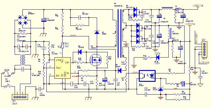 mw24v开关电源,没有接地,正极和设备外壳之间有24v多的电压,这正常吗?