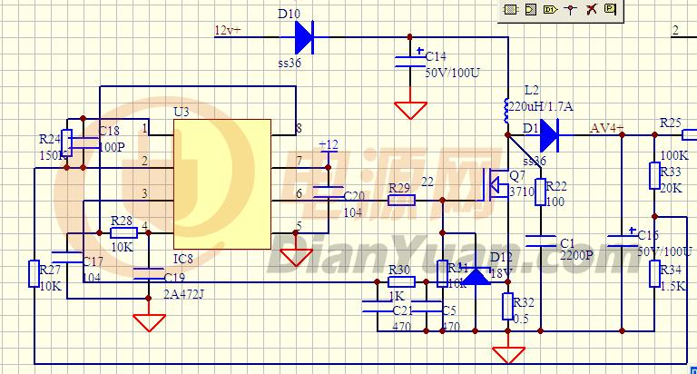 【问】有谁用uc3845做过升压电路?-电源网图片