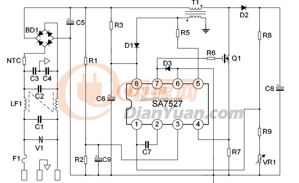 电路 电路图 电子 户型 户型图 平面图 原理图 1033_633