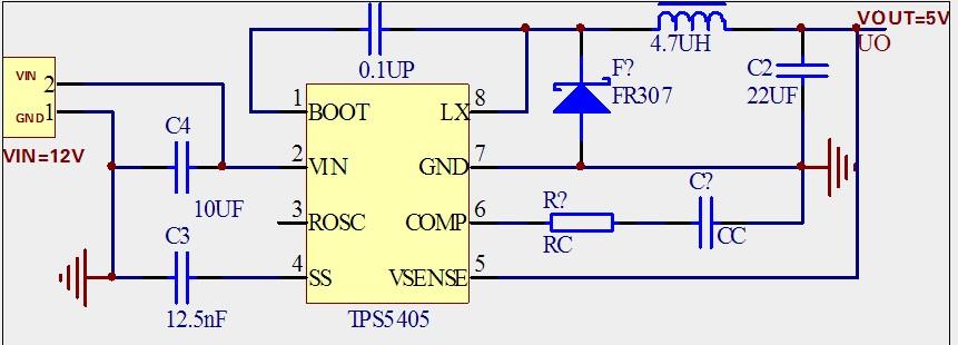 关于TPS5405的COMP脚参数选择-电源网