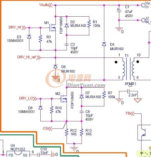 主变压器原理图如下