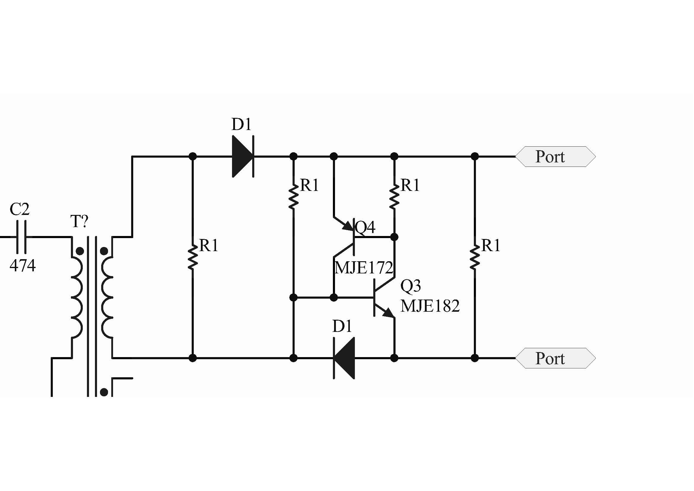 全桥脉冲变压器后mos管驱动电路请教三极管的用途