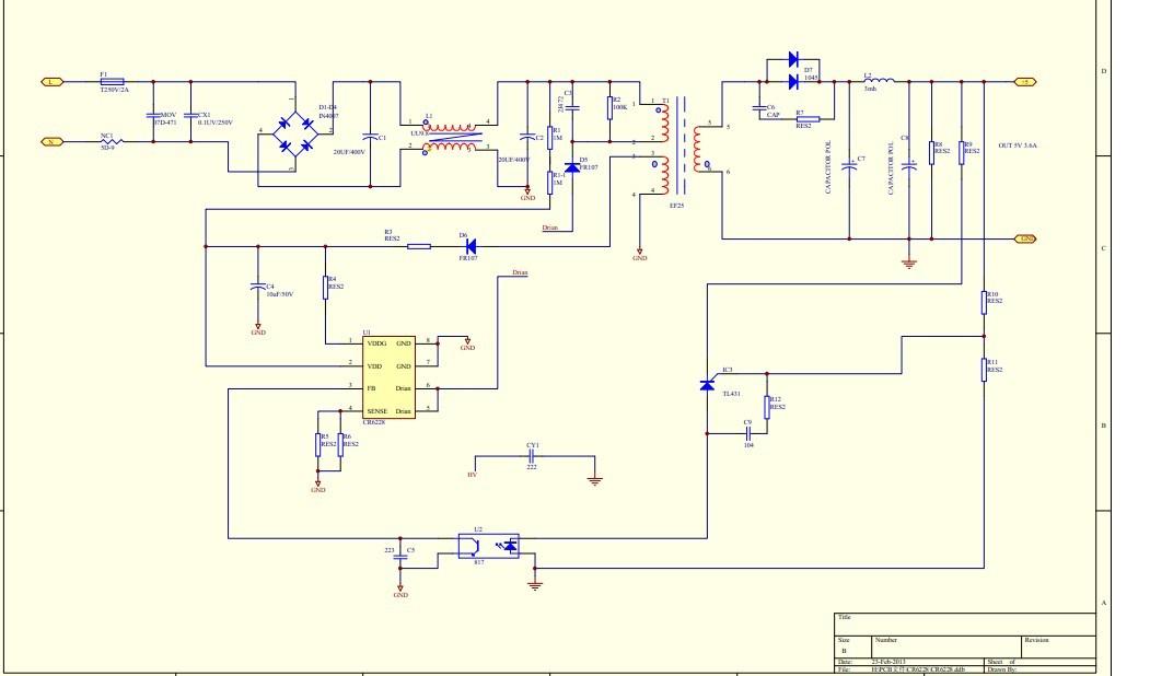 1,rcd及mosfet漏极接线,rcd应该并联在变压器绕组两端,mosfet