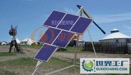 太阳能电池板的支架如何制作?250w的