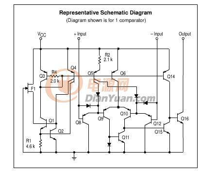 个是lm393内部结构图