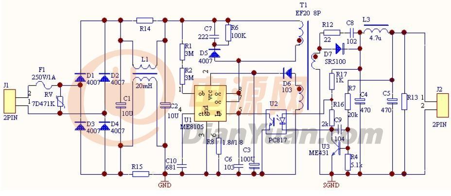 哪位好心的网友能提供一份1a12v的开关电源图纸图片