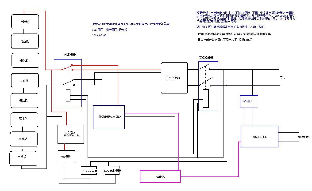 电厂ups接线图