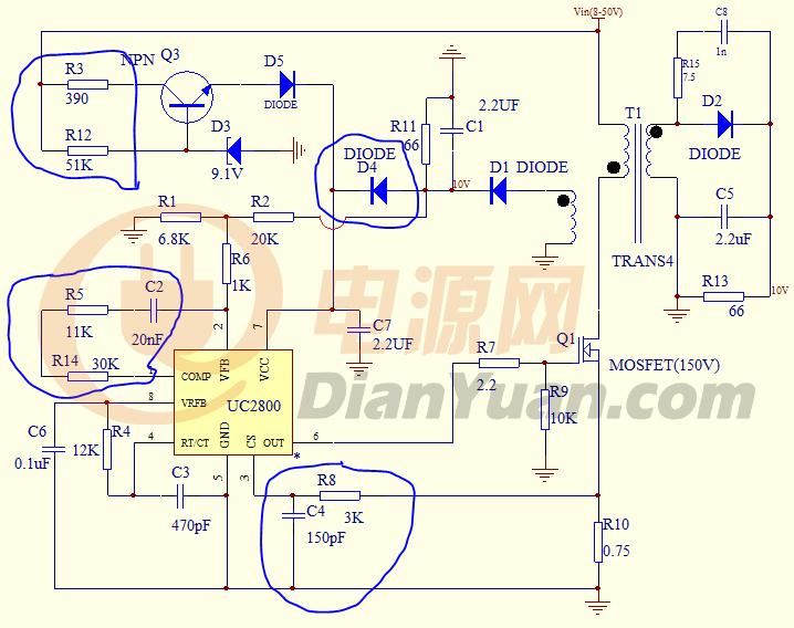 uc3845启动电阻