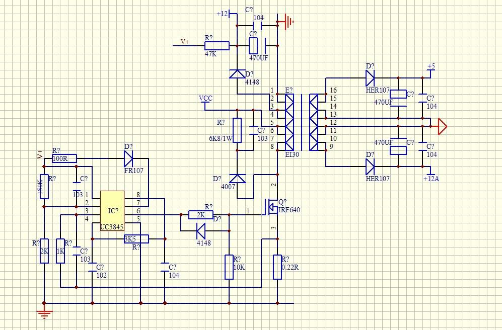 我想用3845做它激给3525和egs002供电 不知道这个电路图有没有问题图片