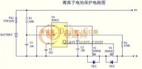 12v20ah锂电池保护电路图