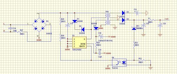tny276n电路输出电压异常电源网