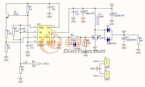 uc3843-boost电路求解-电源网图片