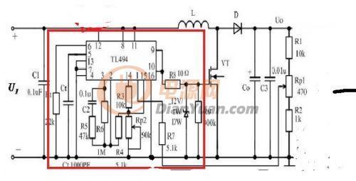 TL494升压电源MOS管烫手求救图片