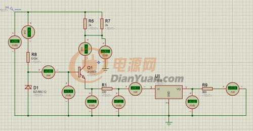 帮忙分析一下,三极管是13003-TO-92,稳压块是AMS1117-5.0-色温