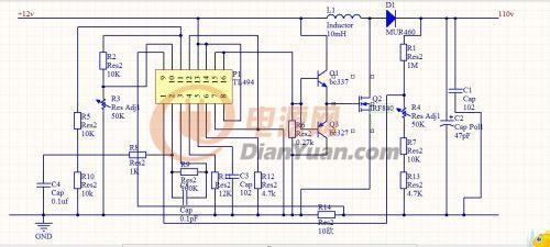 帮忙看看这个电路图怎么没负载时怎么输入会有电流