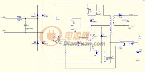 求助:自激振荡型开关电源输出电压不足-电源网