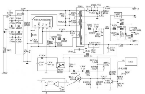 求助用ka5q1265的准谐振电源