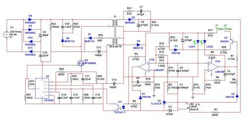 求助,48v充电器改12v的,3843+358方案图片